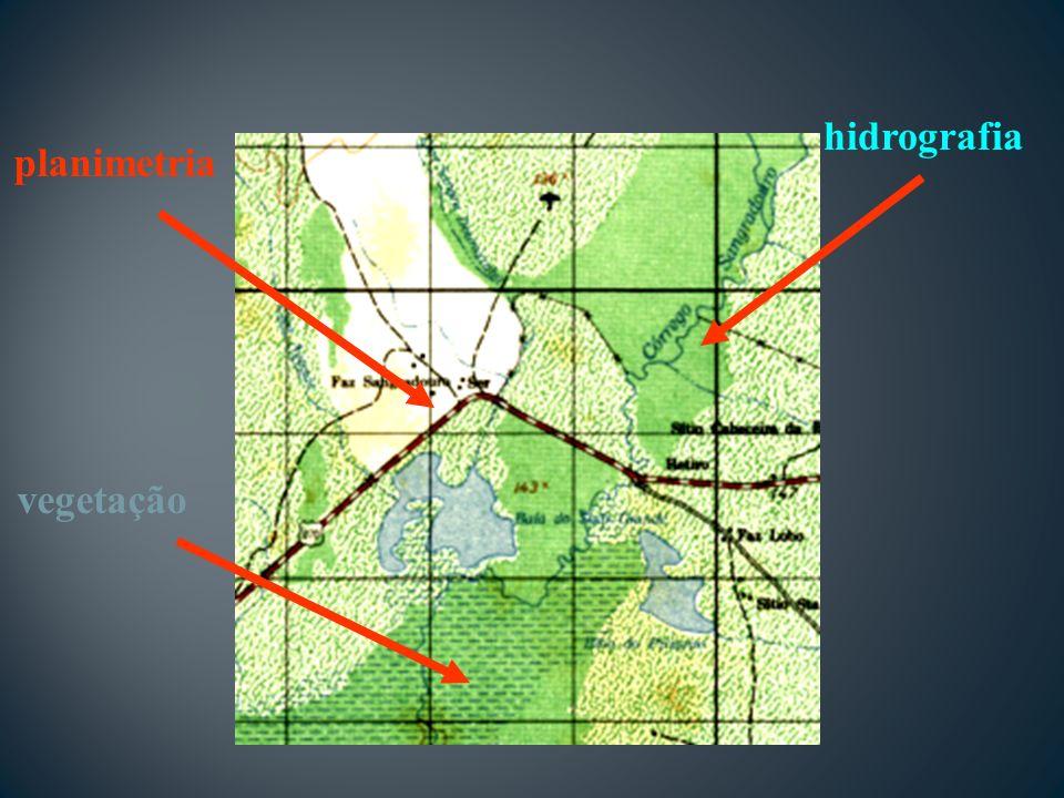 hidrografia planimetria vegetação
