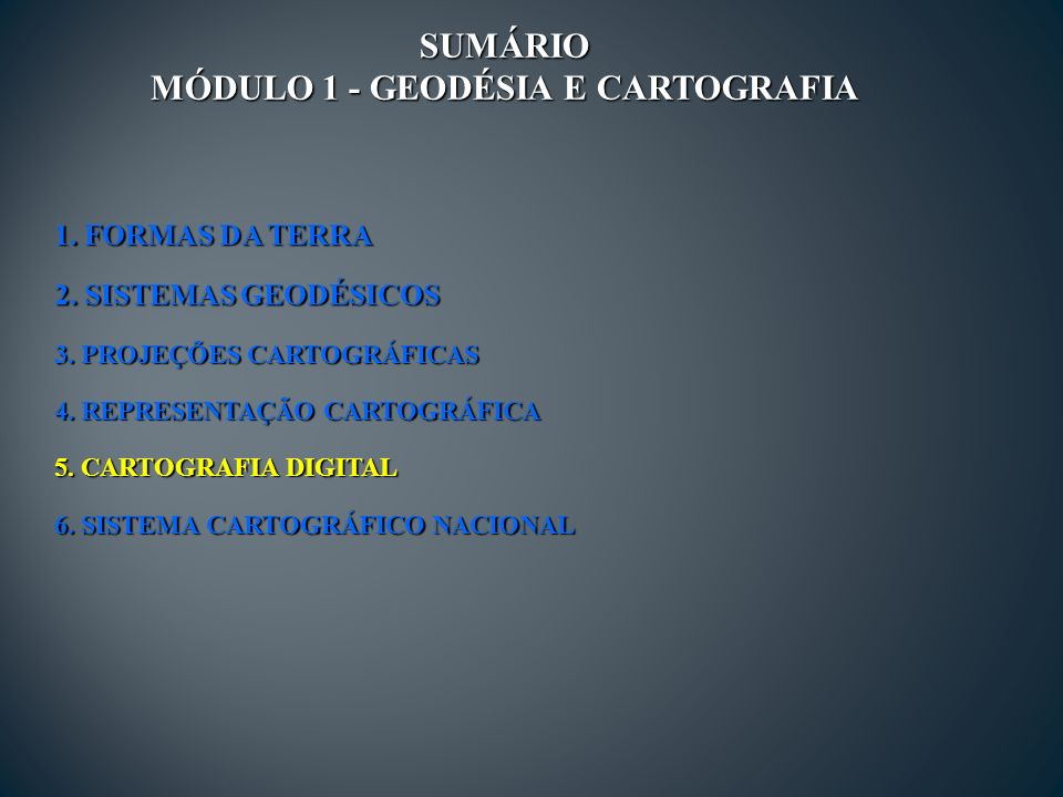 MÓDULO 1 - GEODÉSIA E CARTOGRAFIA