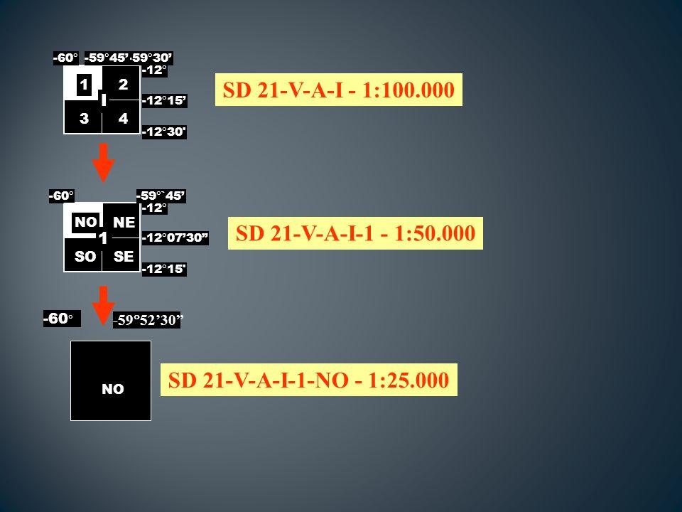 SD 21-V-A-I - 1:100.000 SD 21-V-A-I-1 - 1:50.000