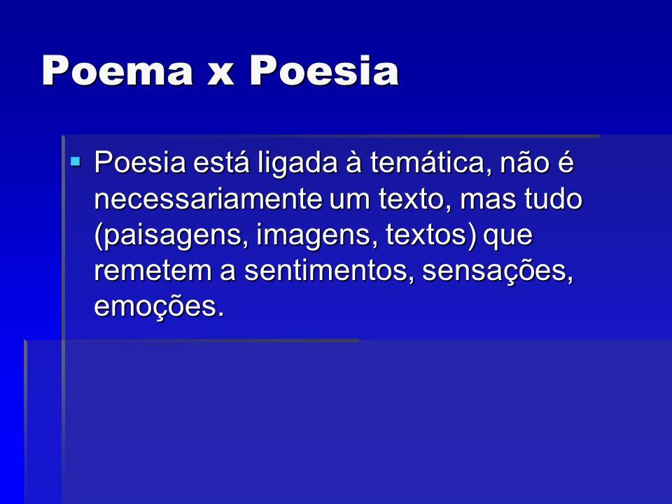 Poema x Poesia