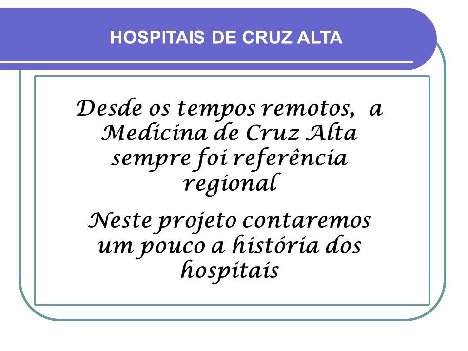 Neste projeto contaremos um pouco a história dos hospitais