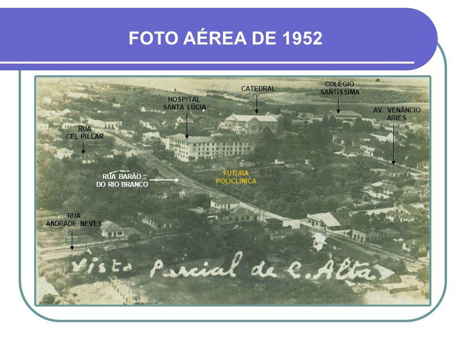 FOTO AÉREA DE 1952 COLÉGIO SANTÍSSIMA CATEDRAL HOSPITAL SANTA LÚCIA