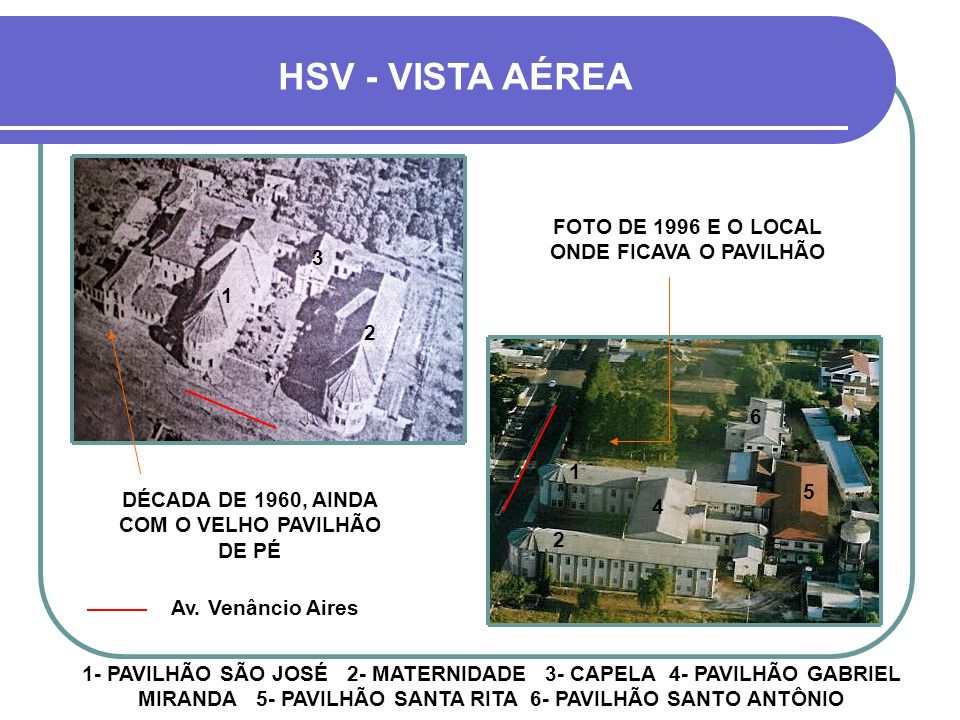 HSV - VISTA AÉREA FOTO DE 1996 E O LOCAL ONDE FICAVA O PAVILHÃO 3 1 2