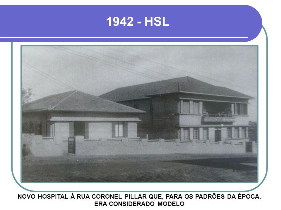 1942 - HSL NOVO HOSPITAL À RUA CORONEL PILLAR QUE, PARA OS PADRÕES DA ÉPOCA, ERA CONSIDERADO MODELO