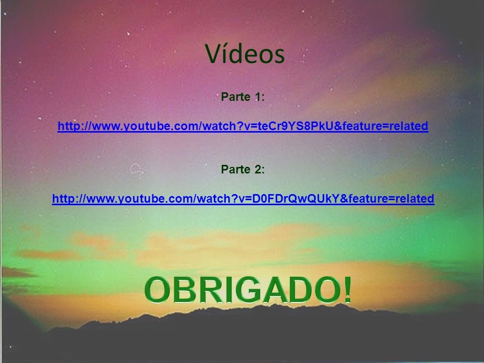 http://www.youtube.com/watch v=teCr9YS8PkU&feature=related Parte 2: