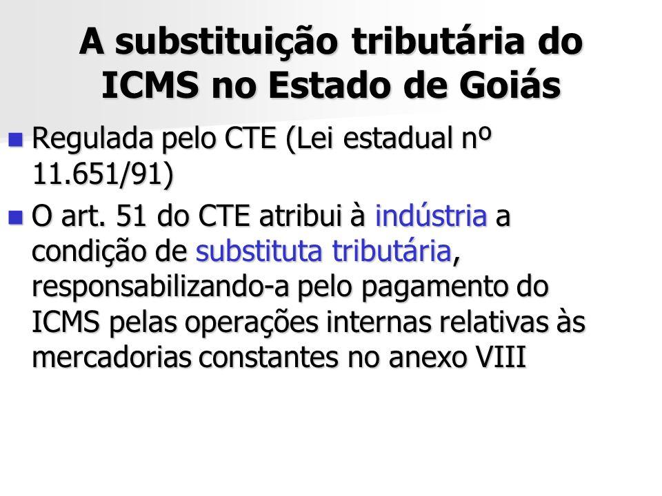 A substituição tributária do ICMS no Estado de Goiás