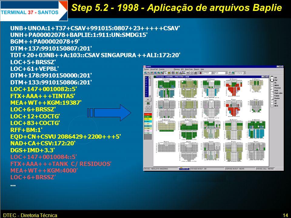 Step 5.2 - 1998 - Aplicação de arquivos Baplie