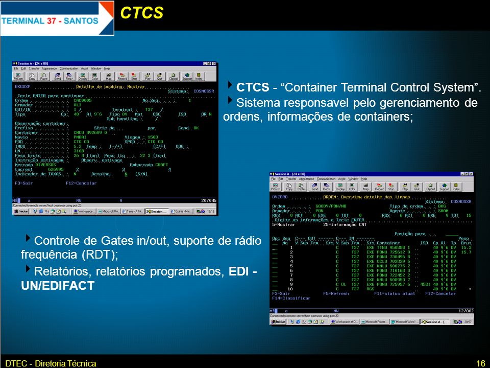 CTCS CTCS - Container Terminal Control System .
