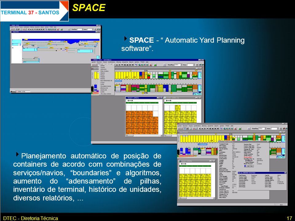 SPACE SPACE - Automatic Yard Planning software .