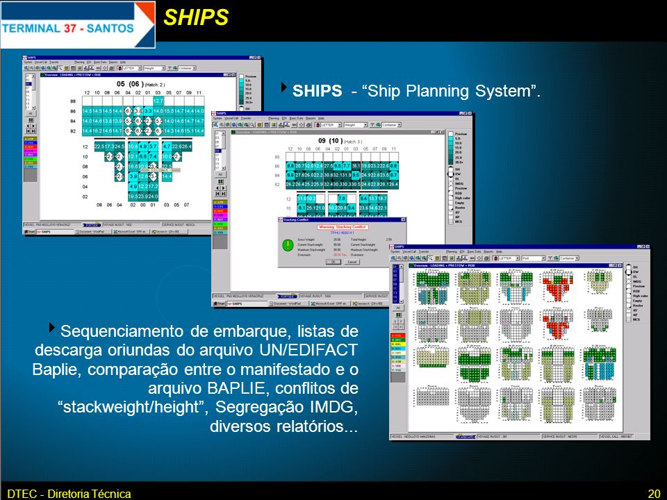 SHIPS SHIPS - Ship Planning System .