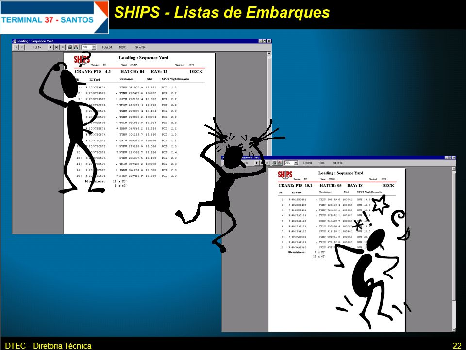 SHIPS - Listas de Embarques