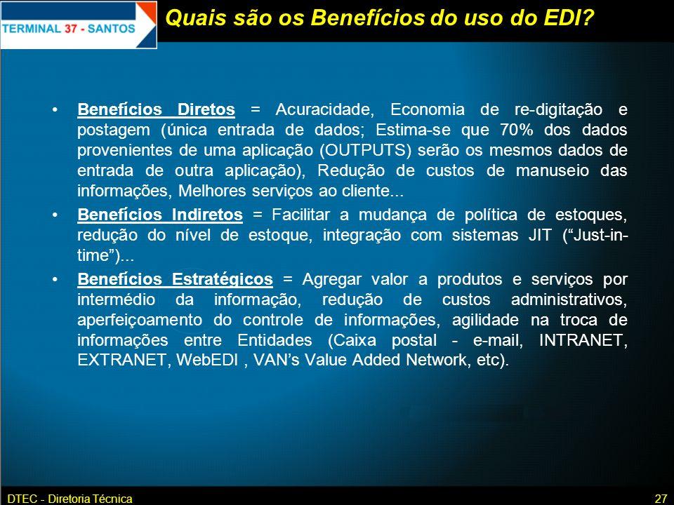 Quais são os Benefícios do uso do EDI
