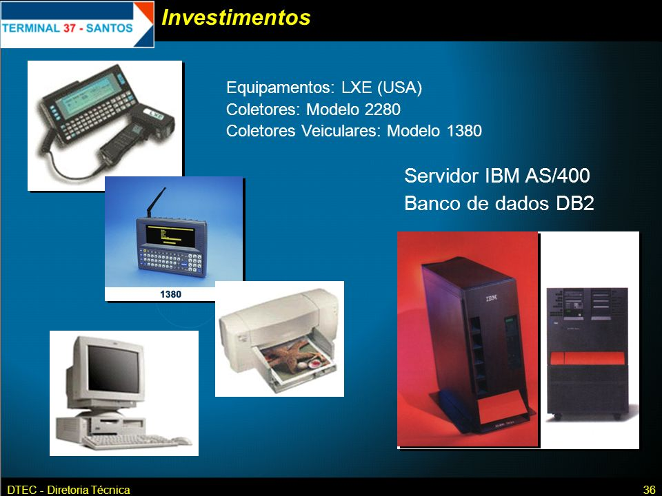 Investimentos Servidor IBM AS/400 Banco de dados DB2