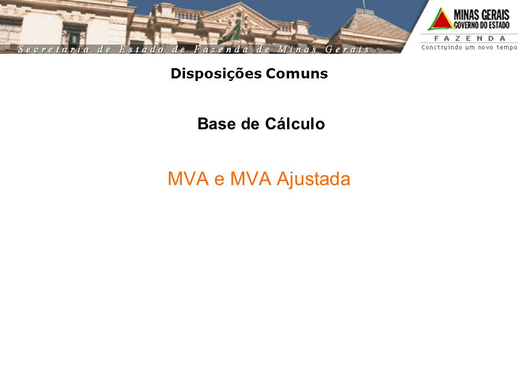 Base de Cálculo MVA e MVA Ajustada