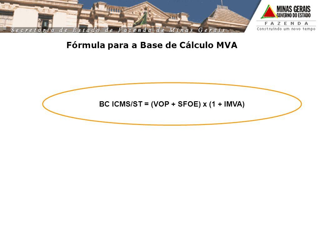 Fórmula para a Base de Cálculo MVA