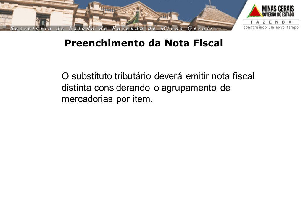 Preenchimento da Nota Fiscal