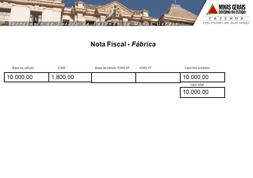 Nota Fiscal - Fábrica