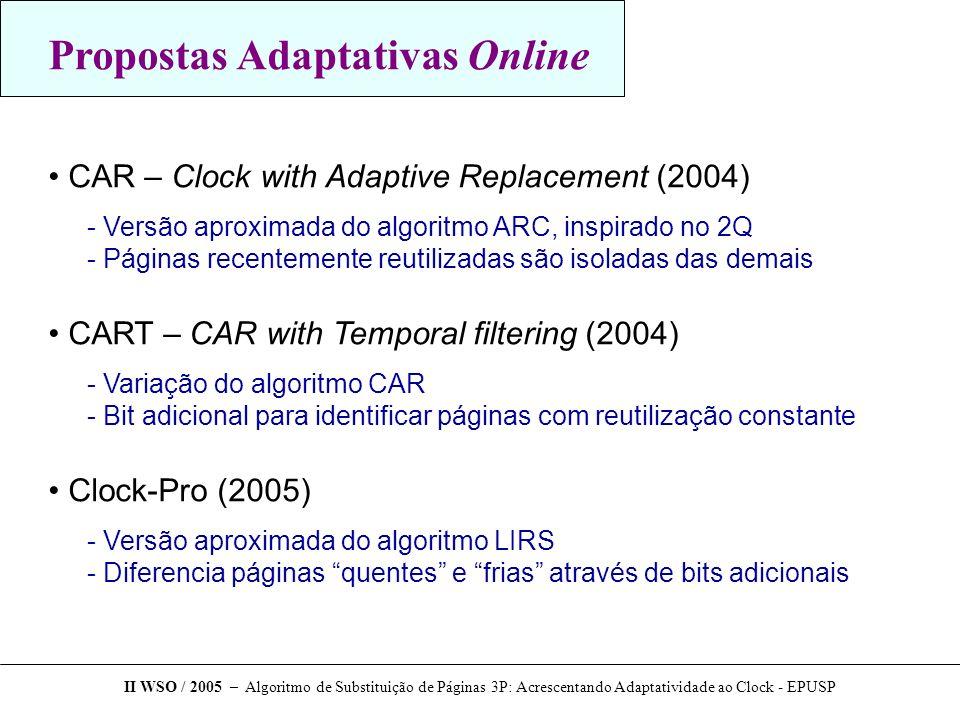 Propostas Adaptativas Online