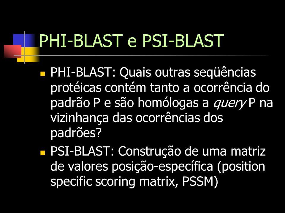PHI-BLAST e PSI-BLAST