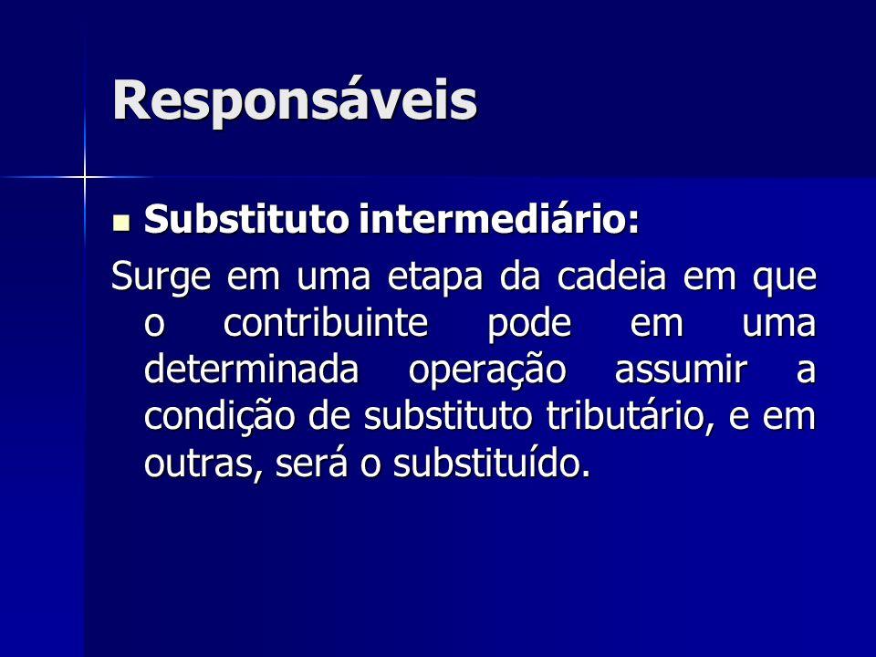 Responsáveis Substituto intermediário: