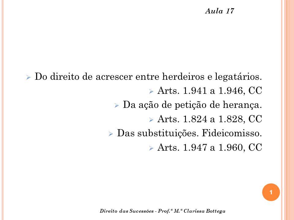 Do direito de acrescer entre herdeiros e legatários.