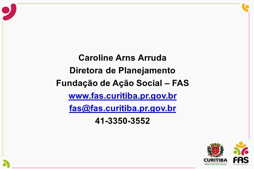 Diretora de Planejamento Fundação de Ação Social – FAS