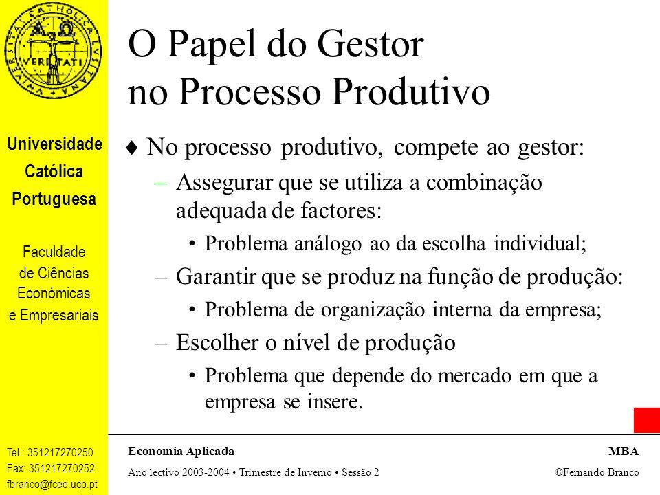O Papel do Gestor no Processo Produtivo
