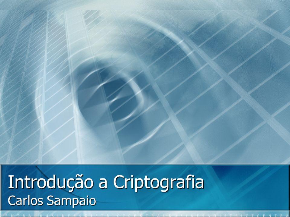 Introdução a Criptografia