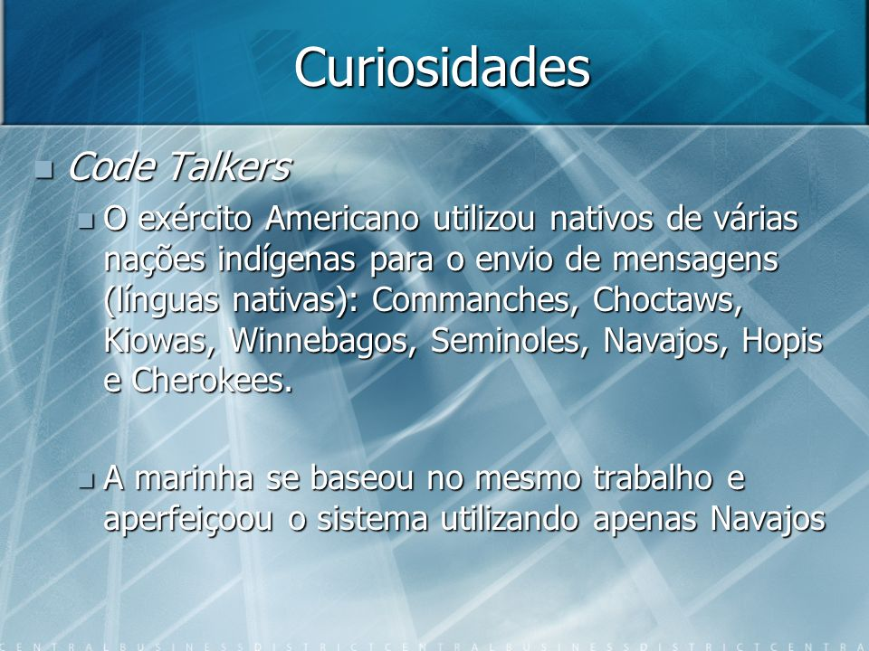 Curiosidades Code Talkers