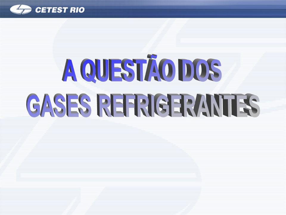 A QUESTÃO DOS GASES REFRIGERANTES