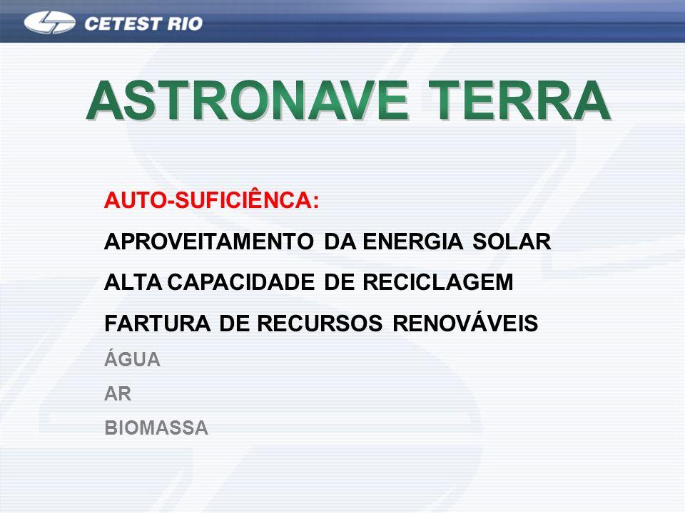 ASTRONAVE TERRA AUTO-SUFICIÊNCA: APROVEITAMENTO DA ENERGIA SOLAR
