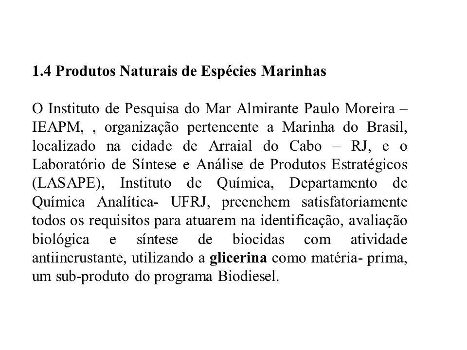 1.4 Produtos Naturais de Espécies Marinhas