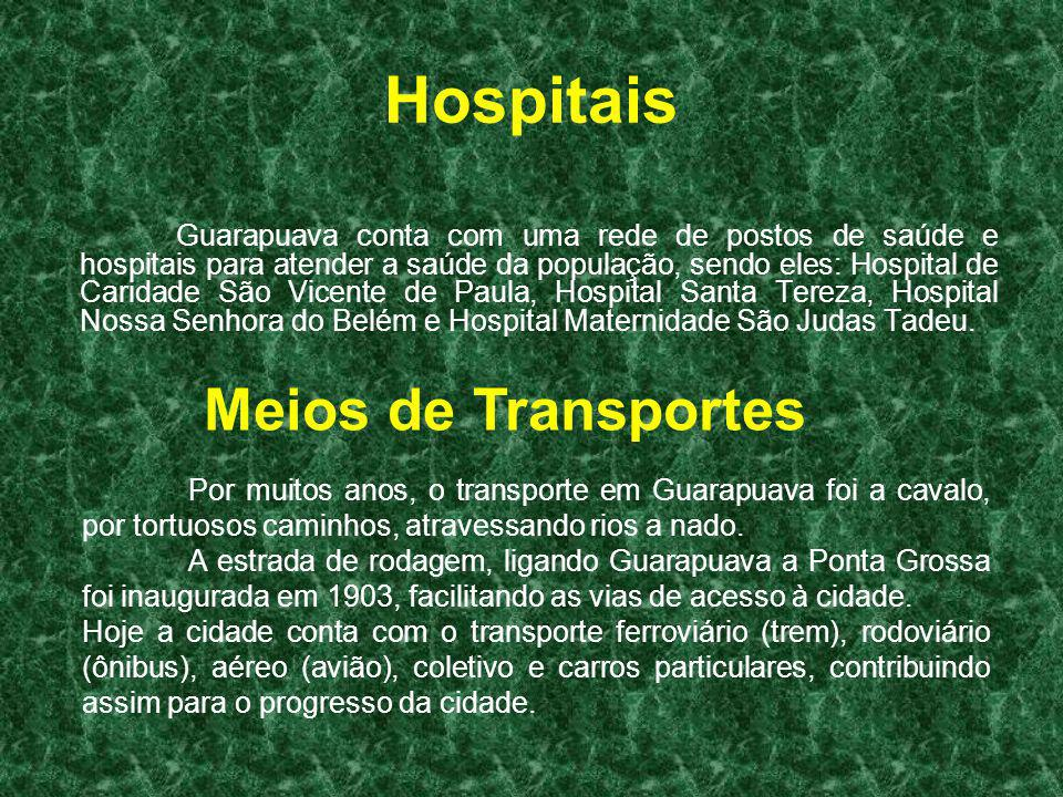 Hospitais Meios de Transportes