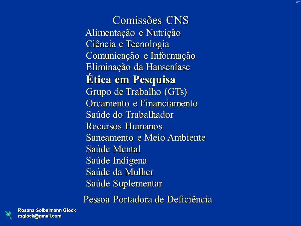 Comissões CNS Alimentação e Nutrição Ciência e Tecnologia