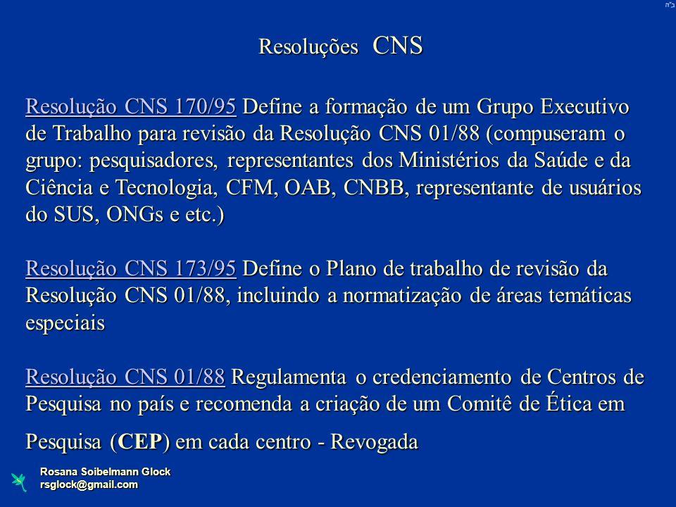 Resoluções CNS