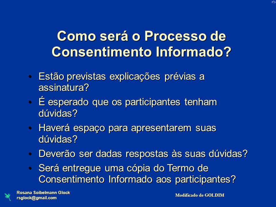 Como será o Processo de Consentimento Informado