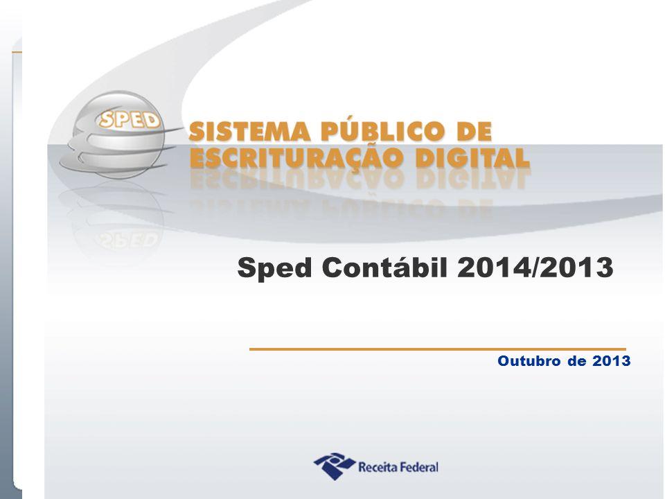 Sped Contábil 2014/2013 Outubro de 2013
