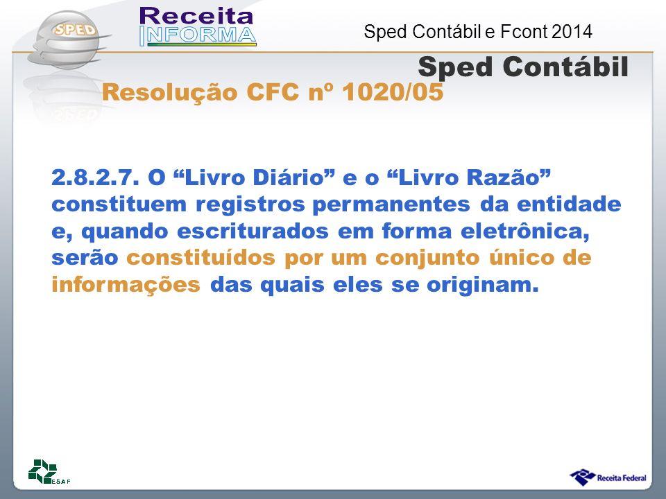 Sped Contábil Resolução CFC nº 1020/05