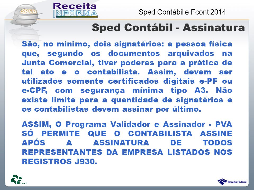 Sped Contábil - Assinatura