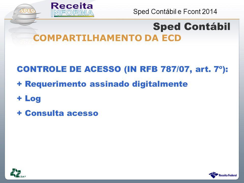 Sped Contábil COMPARTILHAMENTO DA ECD