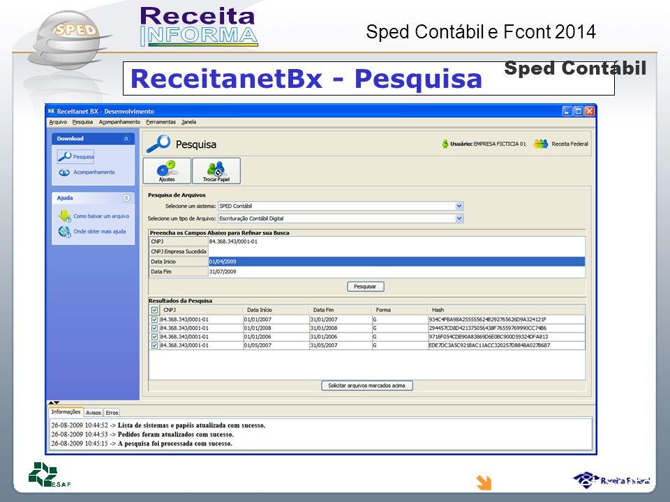 ReceitanetBx - Pesquisa