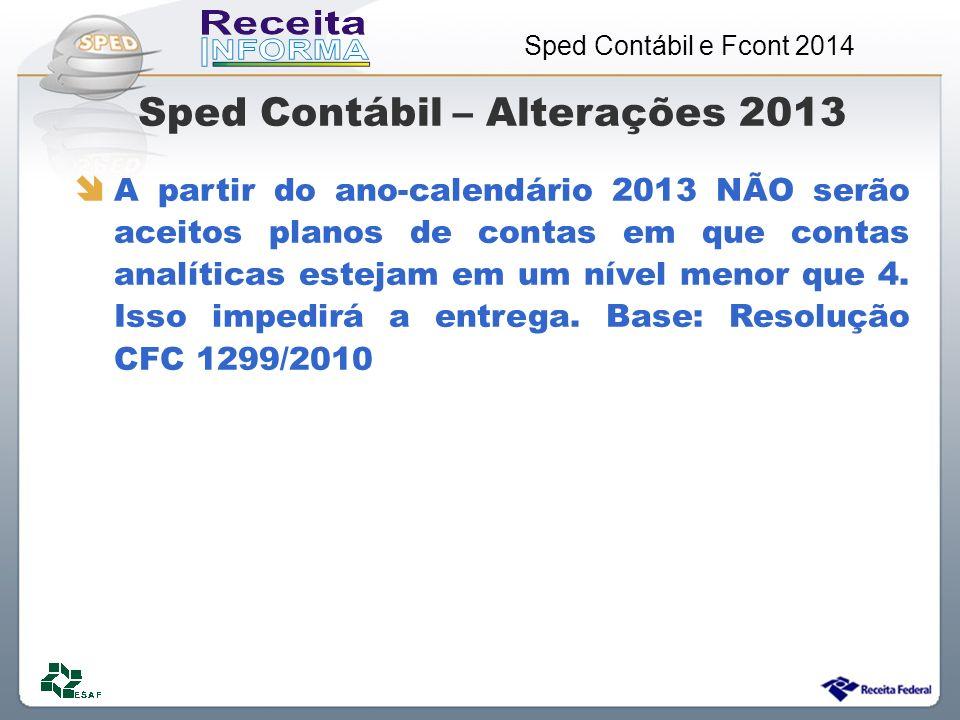 Sped Contábil – Alterações 2013