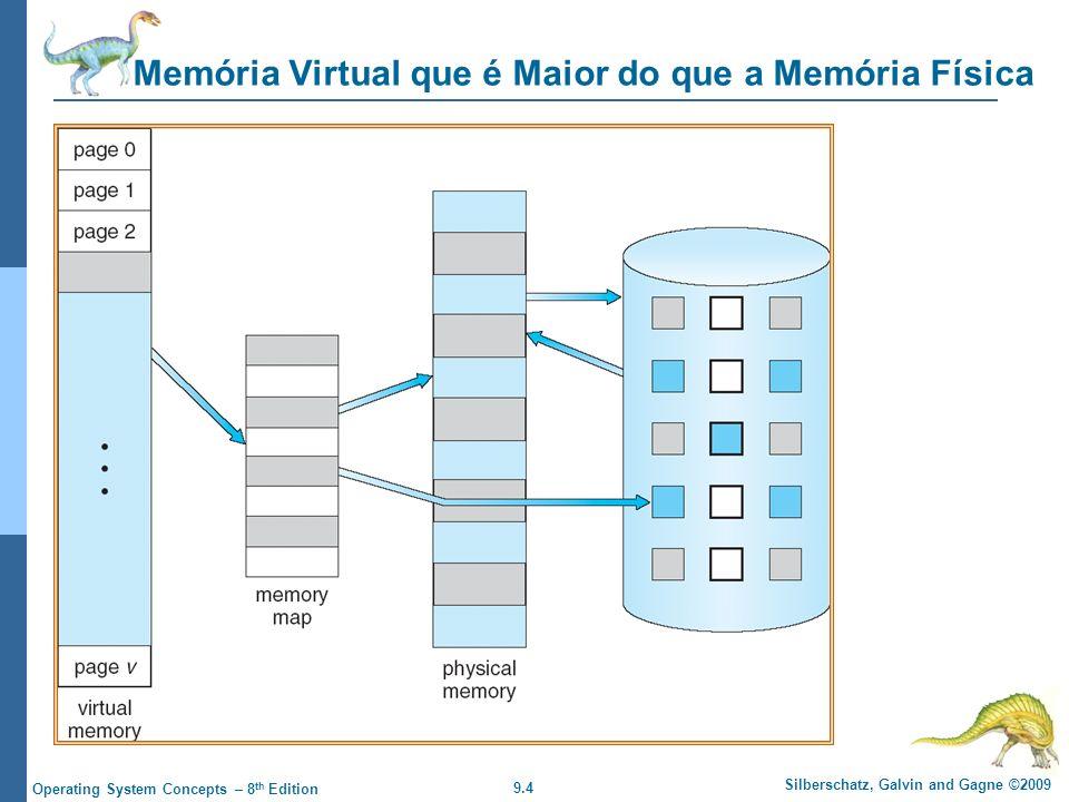 Memória Virtual que é Maior do que a Memória Física