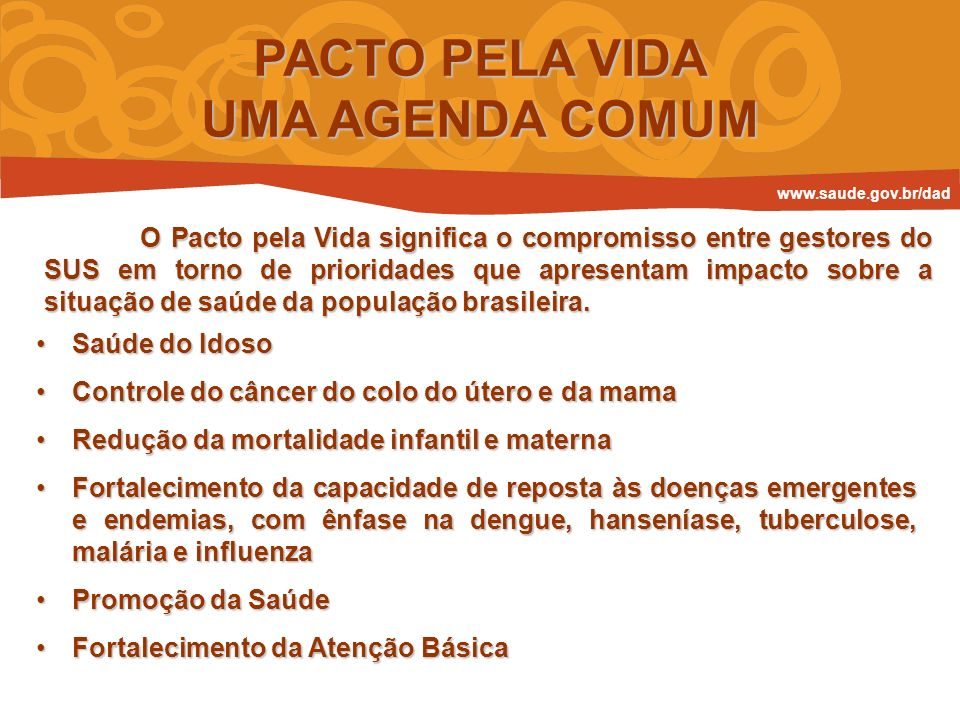 PACTO PELA VIDA UMA AGENDA COMUM