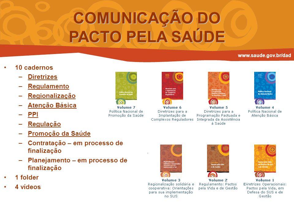 COMUNICAÇÃO DO PACTO PELA SAÚDE