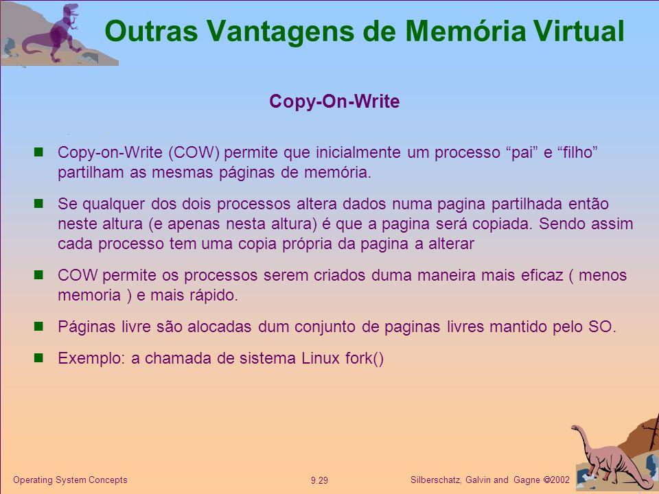 Outras Vantagens de Memória Virtual