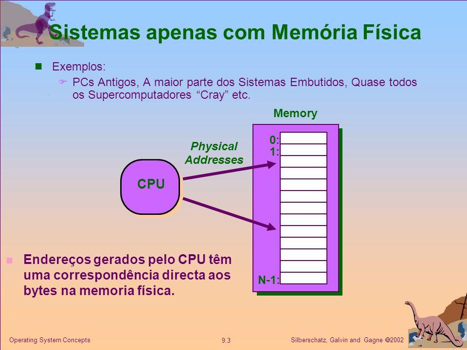 Sistemas apenas com Memória Física