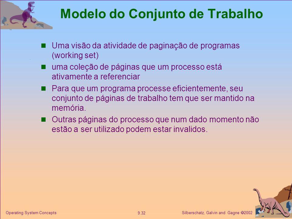 Modelo do Conjunto de Trabalho