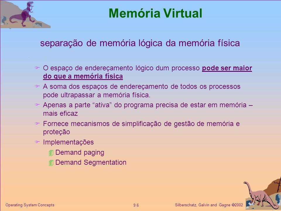 separação de memória lógica da memória física