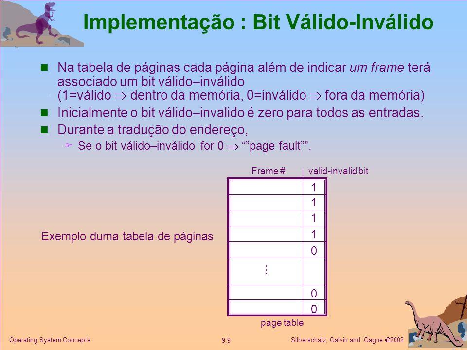 Implementação : Bit Válido-Inválido